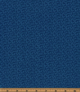 Blue Swirls Fabric - Fat Quarter