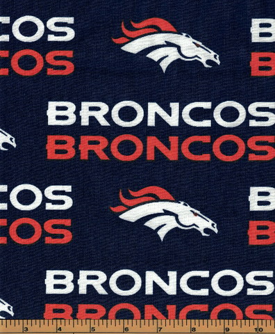 Denver Broncos Fabric- NFL - 100% Cotton High Quality Fabric- by Fabric Traditions