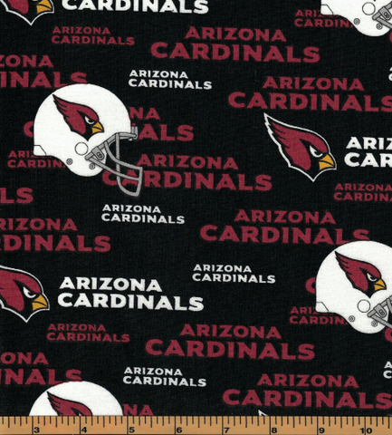 Arizona Cardinals Fabric- NFL - 100% Cotton High Quality Fabric- by Fabric Traditions