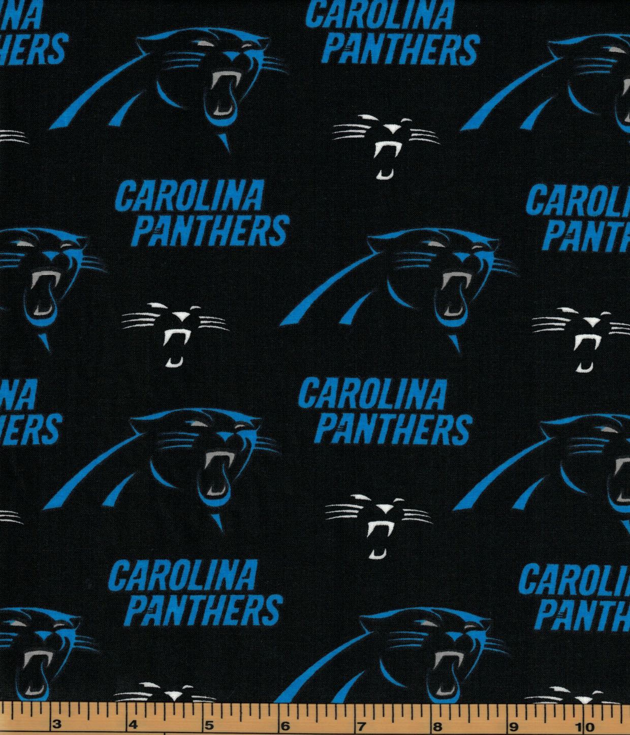 Carolina Panthers Fabric- NFL - 100% Cotton High Quality Fabric- by Fabric Traditions