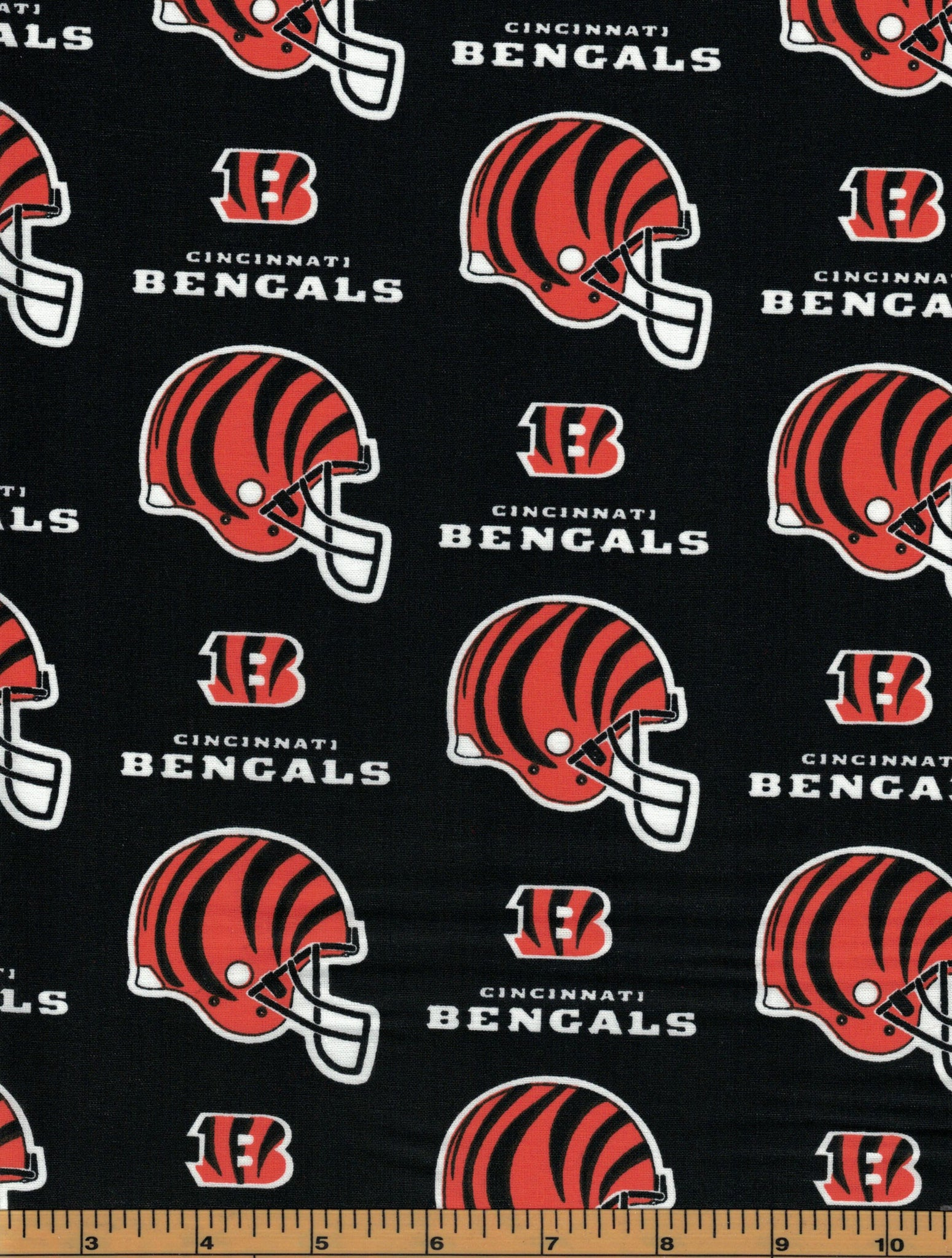 Cincinnati Bengals Football Fabric- NFL -100% Cotton Fabric - by Fabric Traditions