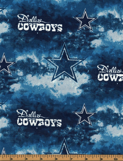 Dallas Cowboys Football Fabric- NFL - 100% Cotton High Quality Fabric- by Fabric Traditions