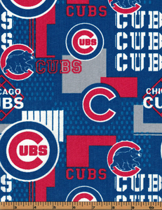 Chicago Cubs Baseball Fabric- MLB - 100% Cotton High Quality Fabric- by Fabric Traditions