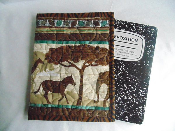 Composition Book Cover - 100% Cotton Fabric, Safari Themed
