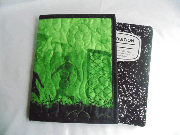 Composition Book Cover - 100% Cotton Fabric, Soccer Themed