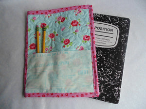 Composition Book Cover - 100% Cotton, Floral Print