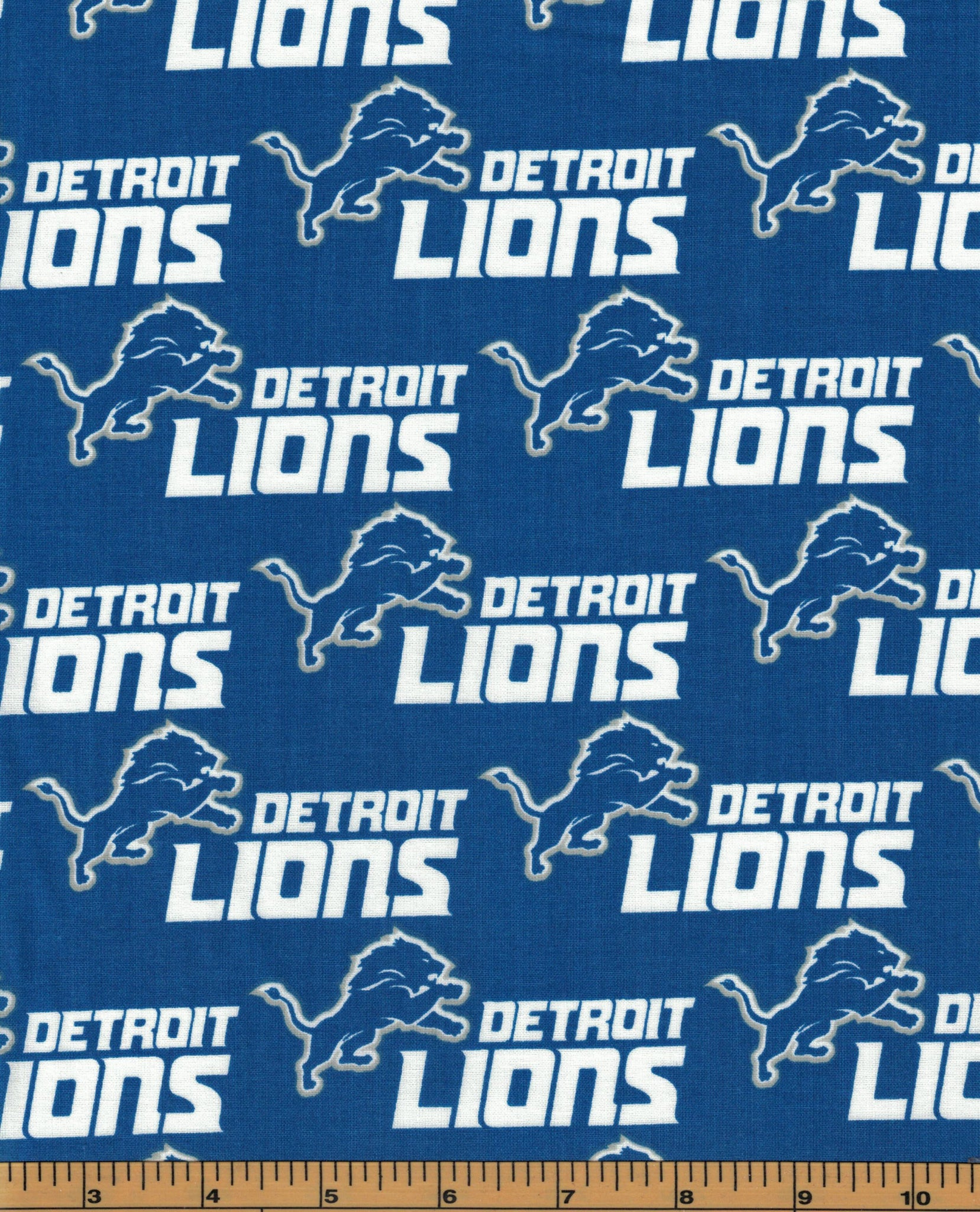 Detroit Lions Fabric- NFL - 100% Cotton High Quality Fabric- by Fabric Traditions