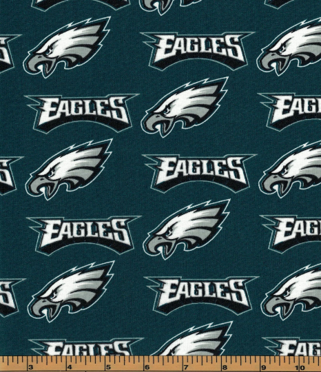 Philadelphia Eagles Fabric- NFL - 100% Cotton High Quality Fabric- by Fabric Traditions