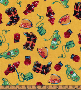Firefighter Fabric - Fat Quarter