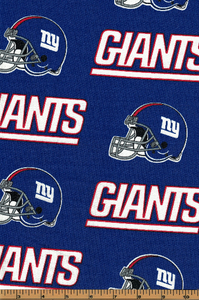 NY Giants Football Helmet Fabric- NFL - 100% Cotton Fabric- by Fabric Traditions