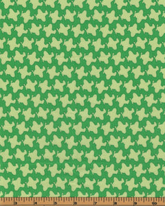Airplanes on a Green Background - Fat Quarter