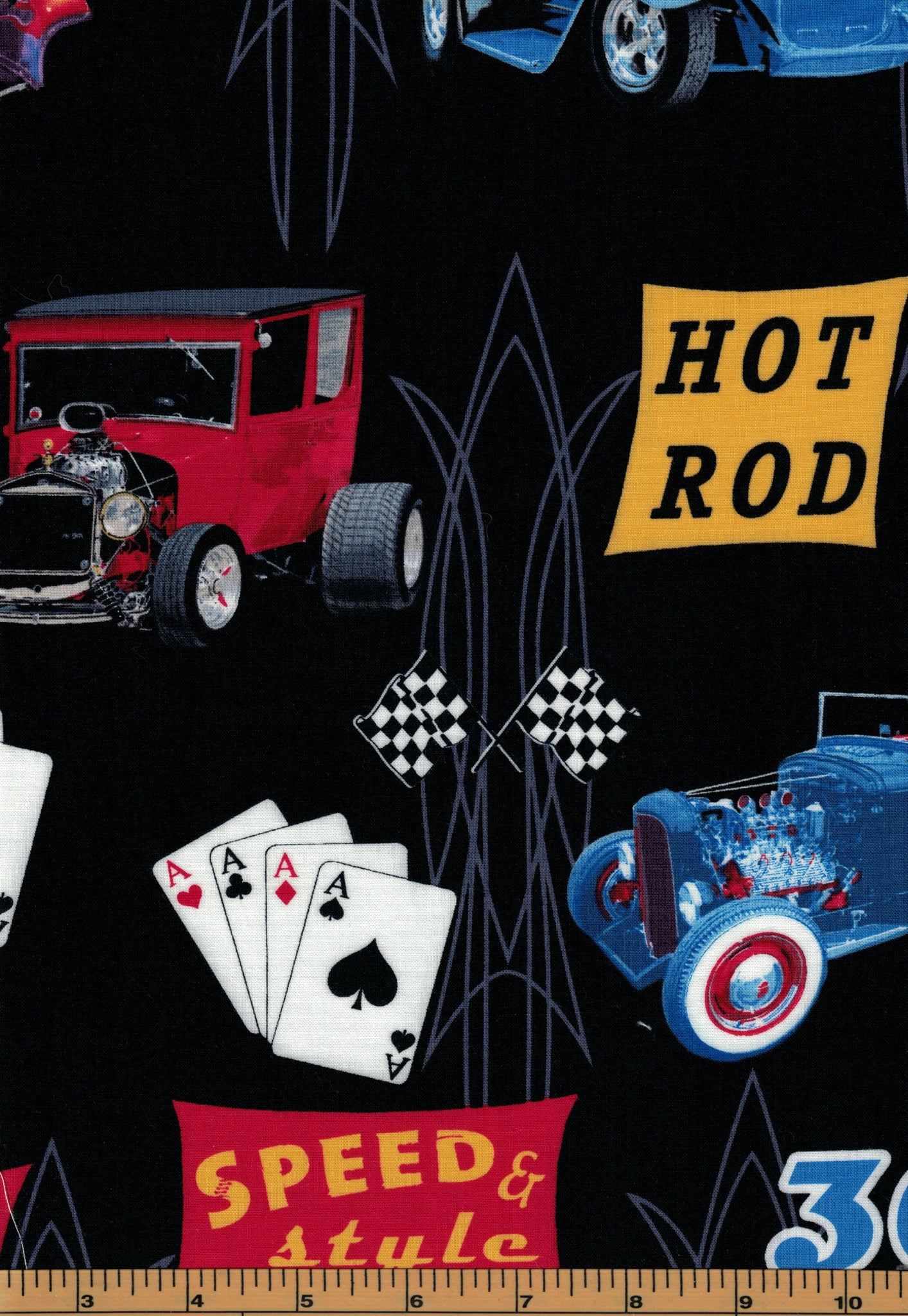 Hot Rods Fabric - Fat Quarter