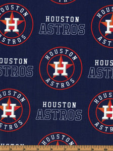 Houston Astros Baseball Fabric- MLB - 100% Cotton High Quality Fabric- by Fabric Traditions