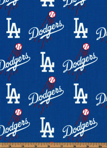 Los Angeles Dodgers Baseball Fabric- MLB - 100% Cotton High Quality Fabric- by Fabric Traditions