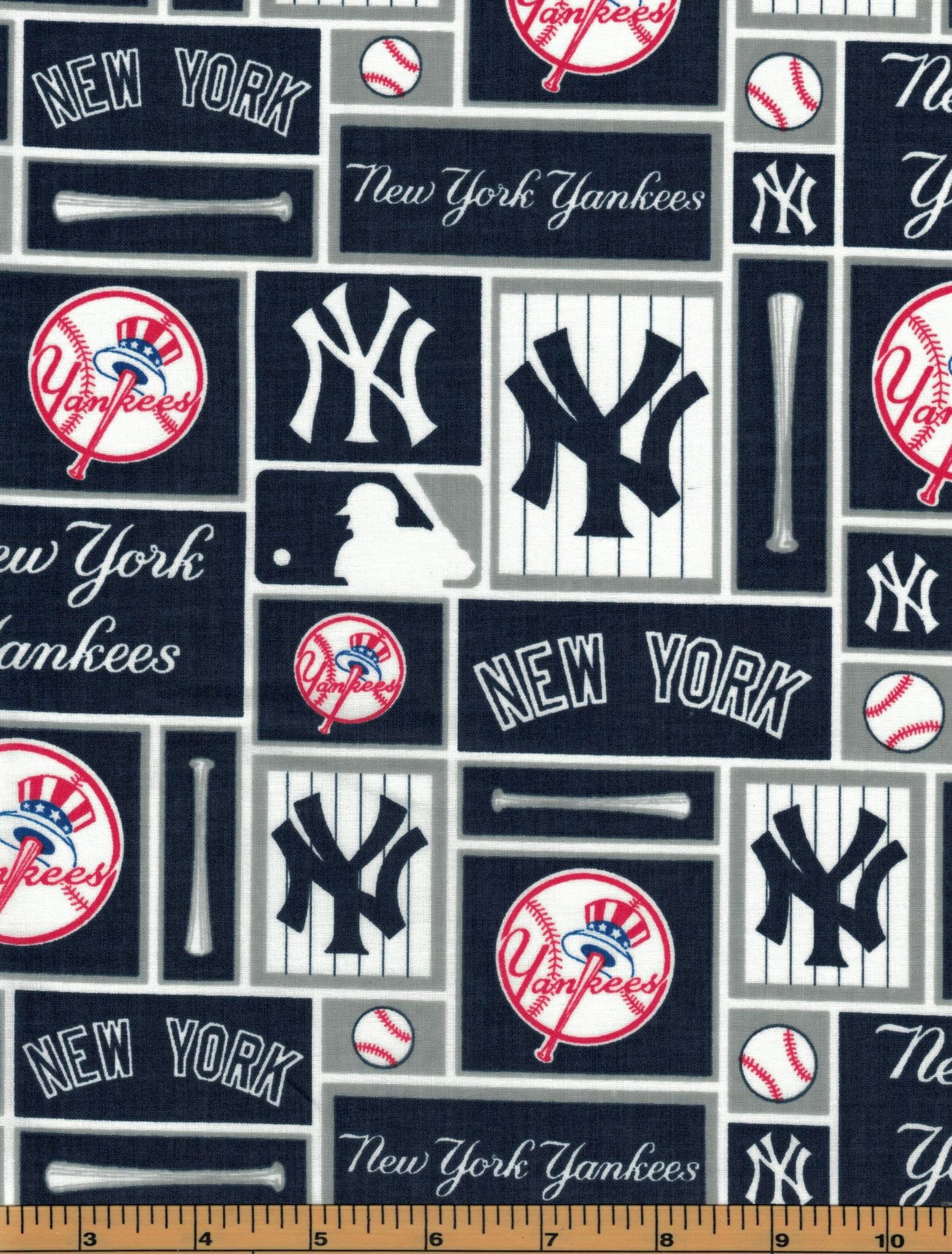 New York Yankees Fabric- MLB - 100% Cotton High Quality Fabric- by Fabric Traditions