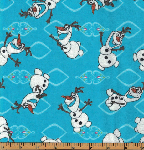 Olaf All over Flannel Fabric- Frozen the Movie - by Springs Creative- 100% Cotton Flannel Fabric