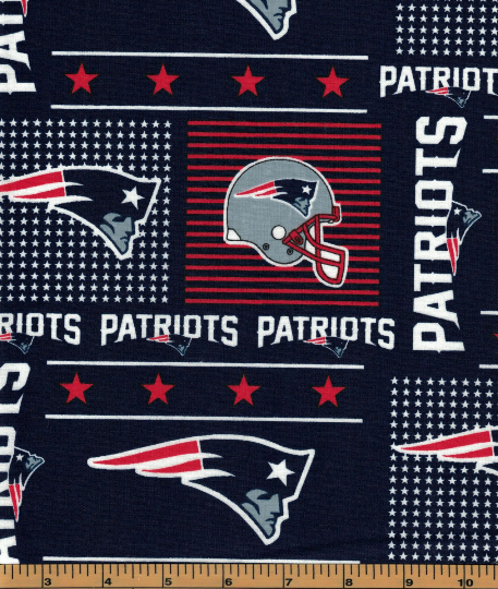 New England Patriots Fabric- NFL - 100% Cotton High Quality Fabric- by Fabric Traditions