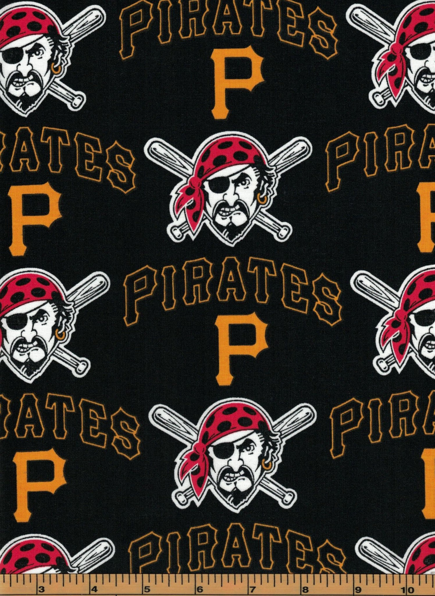 Pittsburgh Pirates Baseball Fabric- MLB - 100% Cotton High Quality Fabric- by Fabric Traditions