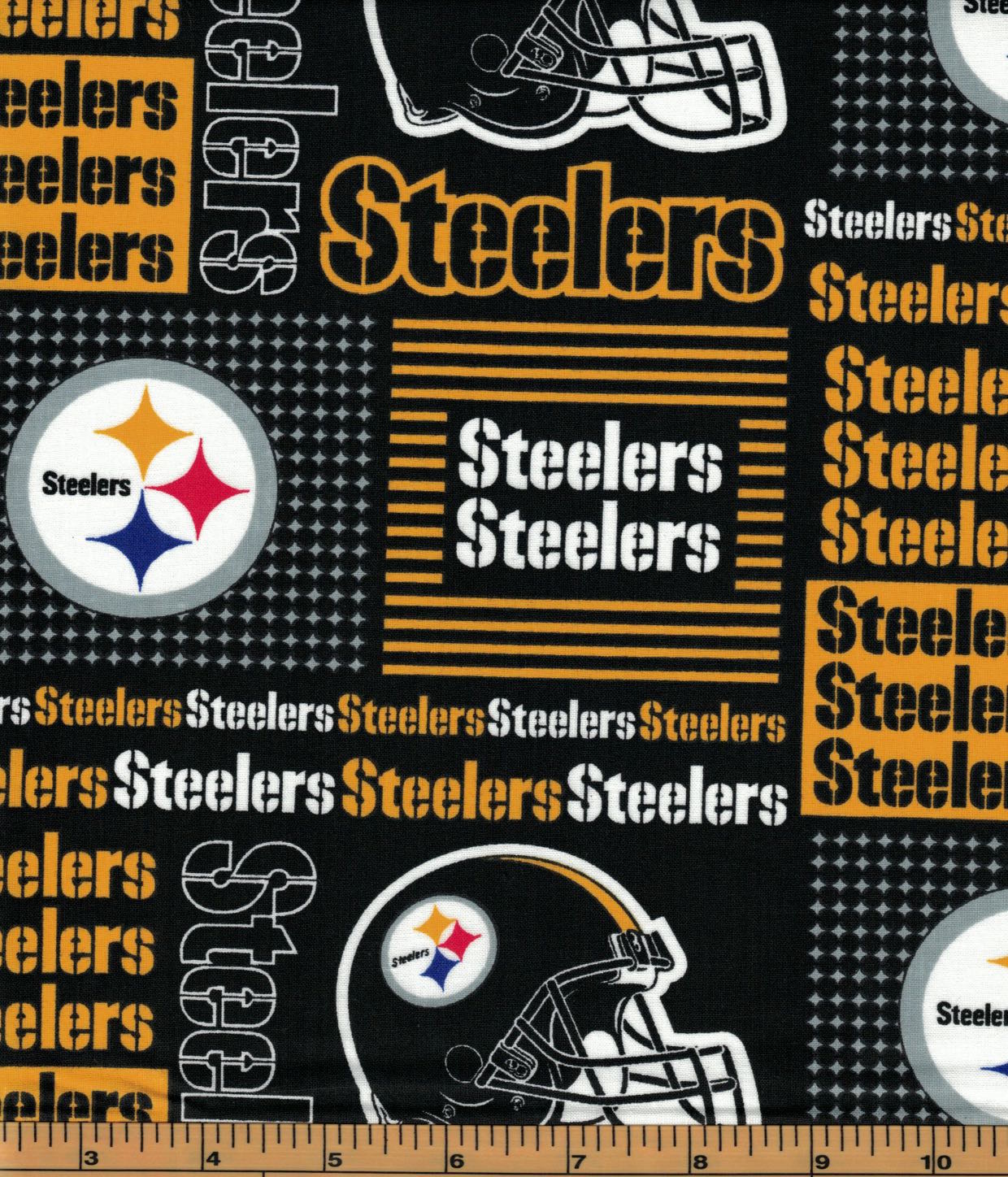 Pittsburgh Steelers Fabric- NFL - 100% Cotton High Quality Fabric- by Fabric Traditions