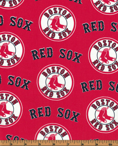 Boston Red Sox Baseball Fabric- MLB - 100% Cotton - by Fabric Traditions