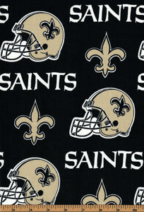 New Orleans Saints Football Fabric- NFL - 100% Cotton Fabric- by Fabric Traditions