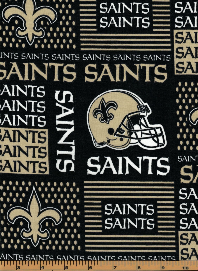 New Orleans Saints Fabric- NFL - 100% Cotton High Quality Fabric- by Fabric Traditions