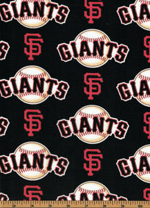 San Fransisco Giants Baseball Fabric- MLB - 100% Cotton High Quality Fabric- by Fabric Traditions