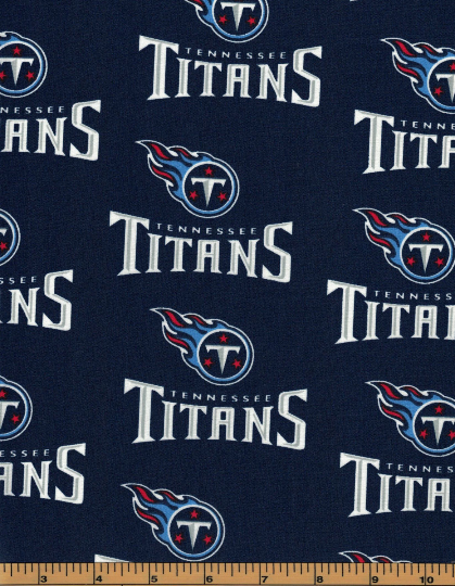 Tennessee Titans Fabric- NFL - 100% Cotton High Quality Fabric- by Fabric Traditions