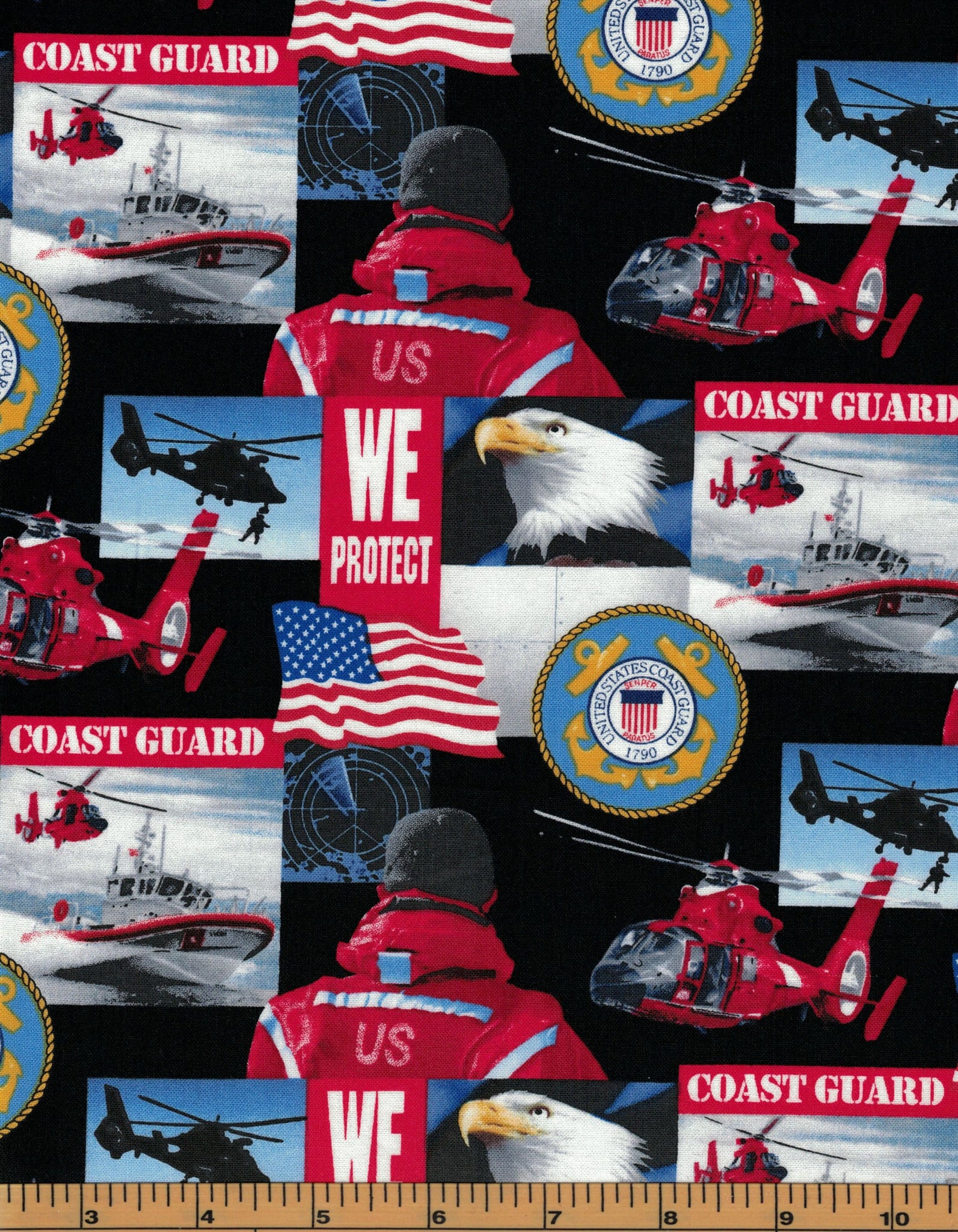 Military Fabric - Coast Guard - 100% Cotton Fabric