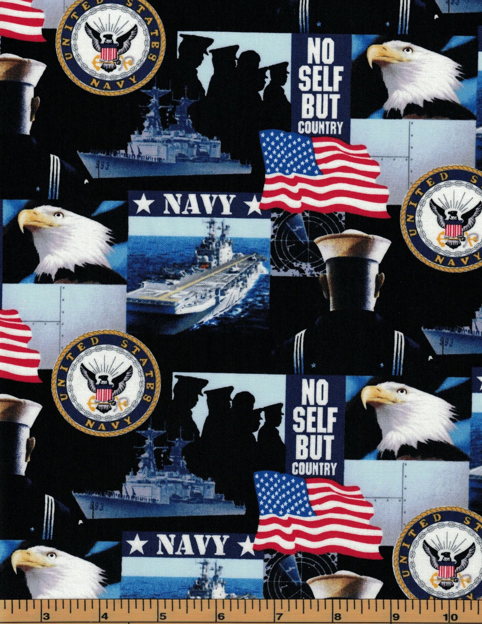 Military Fabric - Navy - 100% Cotton Fabric