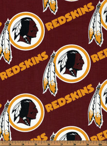 END OF BOLT - Washington Redskins NFL Football Fabric by Fabric Traditions - 100% Cotton Fabric