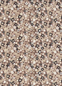 Brown Floral Fabric - Fat Quarter