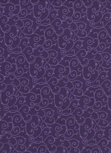 Purple Swirls (dark) - Fat Quarter