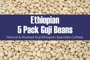 5 Pack Guji - Unroasted Natural & Washed Ethiopian Coffee
