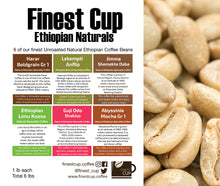 Load image into Gallery viewer, Six Pack - Unroasted Natural Ethiopian Coffee
