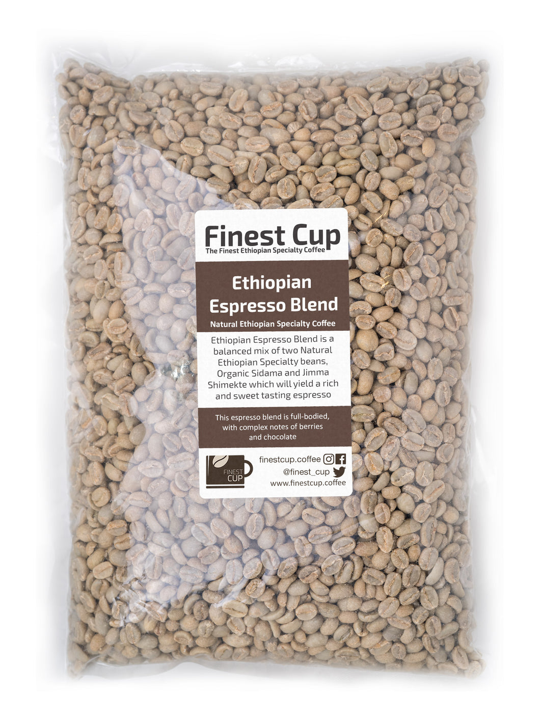 Ethiopian Espresso Blend - Unroasted Natural Coffee
