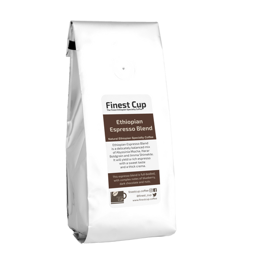 Ethiopian Espresso Blend - Roasted Natural Coffee