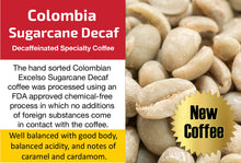 Load image into Gallery viewer, Colombia Excelso Sugarcane Decaf - Unroasted Decaffeinated Coffee