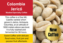 Load image into Gallery viewer, Colombia Jericó - Unroasted Washed Coffee