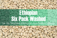 Load image into Gallery viewer, Six Pack - Unroasted Washed Ethiopian Coffee