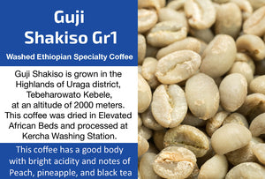 Guji Shakiso Gr1 - Unroasted Washed Ethiopia Coffee