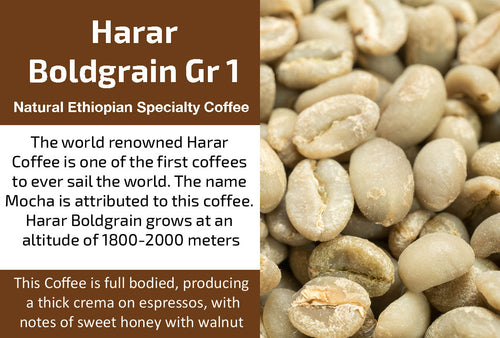 Harar Boldgrain Grade 1 - Unroasted Natural Ethiopia Coffee