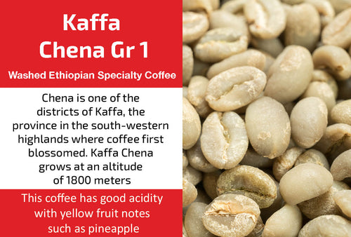 Kaffa Chena Gr1 - Unroasted Washed Ethiopia Coffee
