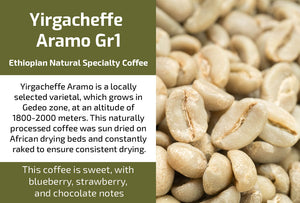 Yirgacheffe Aramo Gr1 - Natural Ethiopian Coffee (Unroasted)