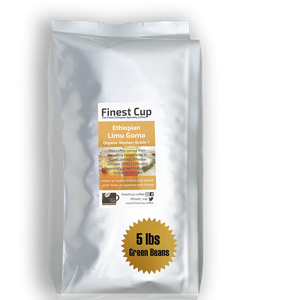 Ethiopian Limu Goma Organic G1 - Unroasted Washed Coffee