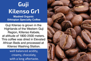 Guji Kilenso Organic Washed Gr1 Ethiopian Coffee (Medium Roast)