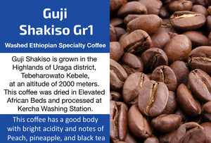 Guji Shakiso Gr1 - Washed Ethiopia Coffee (Medium Roast)