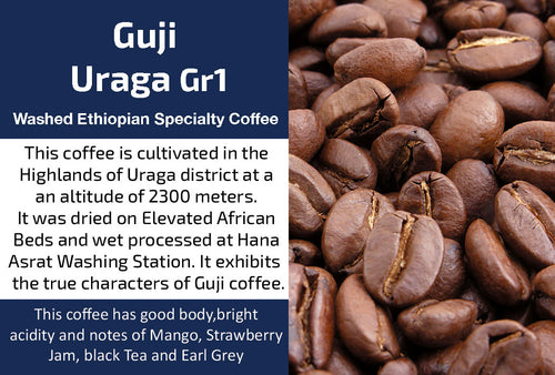 Guji Uraga Gr1 - Washed Ethiopian Coffee (Medium Roast)