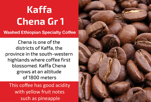 Kaffa Chena Gr1 - Washed Ethiopia Coffee (Medium Roast)