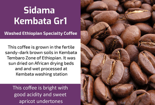 Kembata Gr1 - Washed Ethiopia Coffee (Medium Roast)
